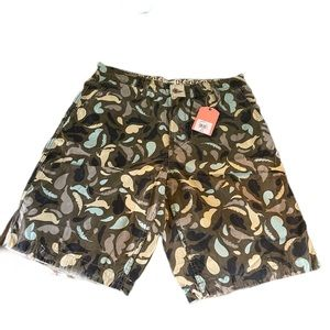 Staple Men's Brown Shorts with Pigeon details